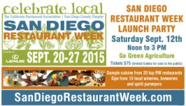 2015 San Diego Restaurant Week Launch Party