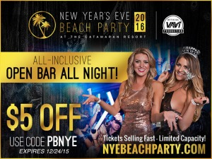 2016 New Year's Eve Beach Party San Diego